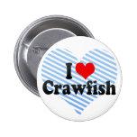 I Love Crawfish Pin