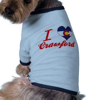 I Love Crawford, Colorado Pet Tee