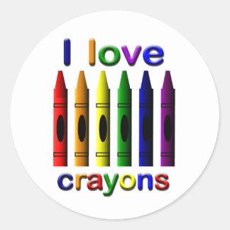 I Love Crayons Sticker
