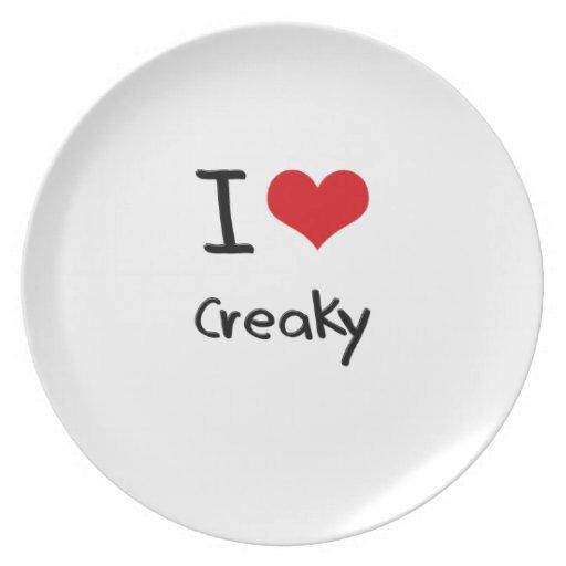 I love Creaky Party Plates