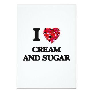 I love Cream And Sugar 3.5x5 Paper Invitation Card