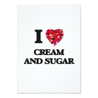 I love Cream And Sugar 5x7 Paper Invitation Card