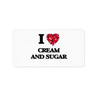 I love Cream And Sugar Address Label