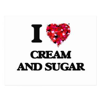 I love Cream And Sugar Postcard