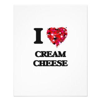 "I love Cream Cheese 4.5"" X 5.6"" Flyer"