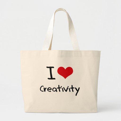 I love Creativity Tote Bags
