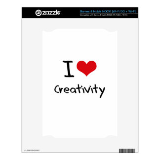 I love Creativity Decal For The NOOK