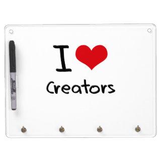 I love Creators Dry Erase Board With Keychain Holder