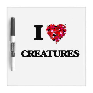 I love Creatures Dry-Erase Boards