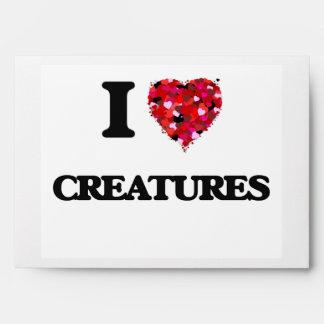 I love Creatures Envelopes