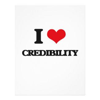 I love Credibility Flyer Design
