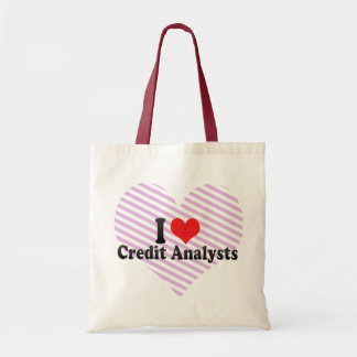 I Love Credit Analysts Bag