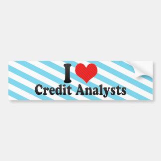 I Love Credit Analysts Bumper Sticker