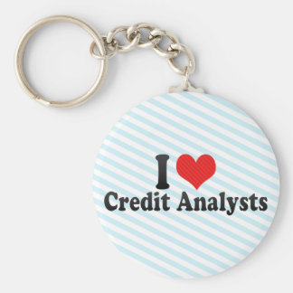 I Love Credit Analysts Key Chains
