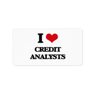 I love Credit Analysts Address Label