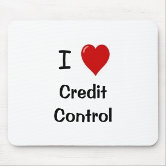 I Love Credit Control funniest mousepad
