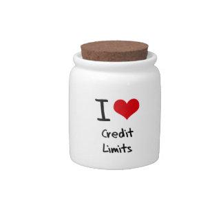 I love Credit Limits Candy Jars