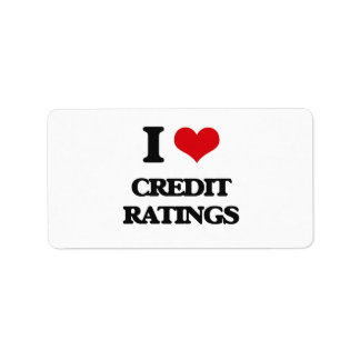 I love Credit Ratings Address Label