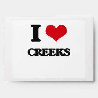 I love Creeks Envelopes