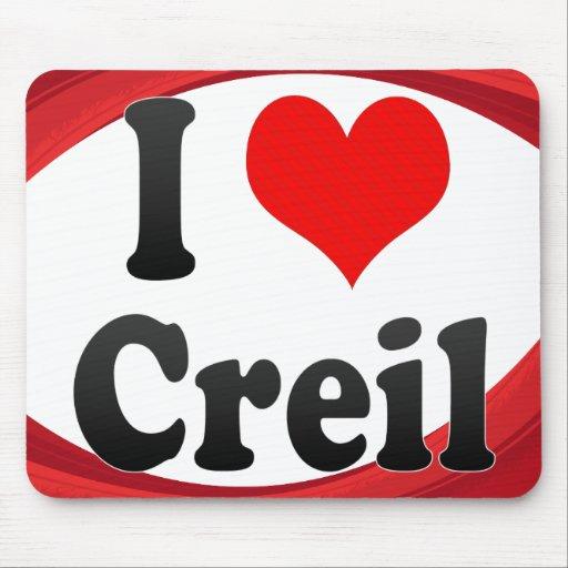 I Love Creil, France. J'Ai L'Amour Creil, France Mousepads