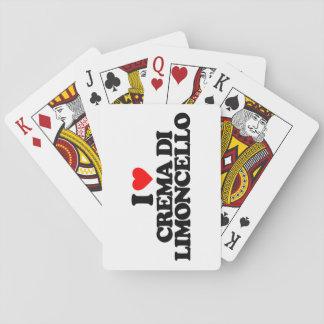 I LOVE CREMA DI LIMONCELLO POKER CARDS
