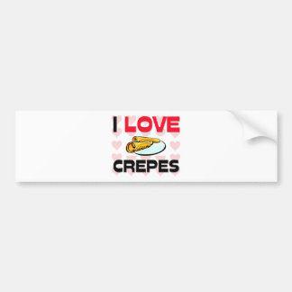 I Love Crepes Bumper Sticker