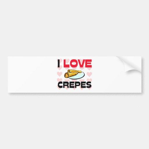 I Love Crepes Bumper Stickers