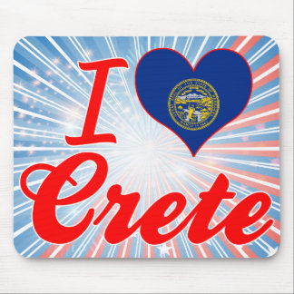 I Love Crete, Nebraska Mouse Pad