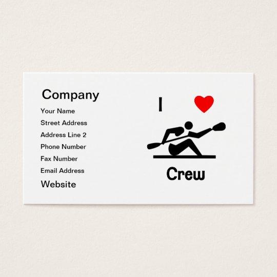I Love Crew Business Card