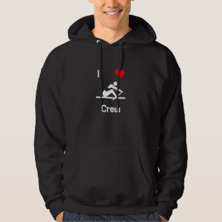 I Love Crew Hooded Pullover