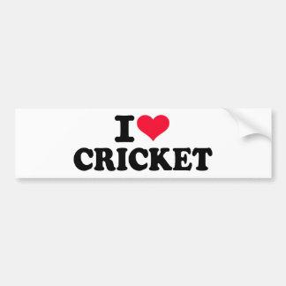 I love Cricket Bumper Sticker