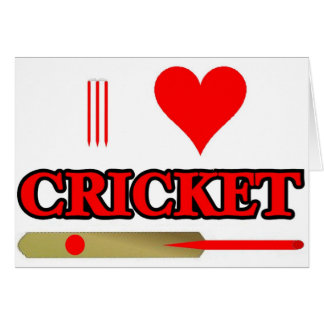 I Love Cricket Card