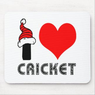 I Love Cricket Design Mouse Pad