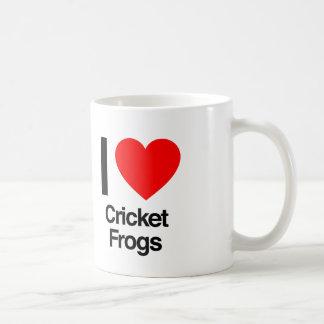 i love cricket frogs coffee mug