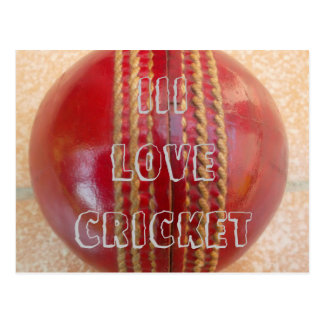 I Love Cricket game Customize Product postcard