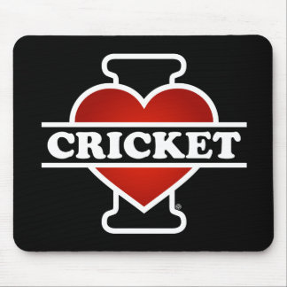 I Love Cricket Mouse Pad