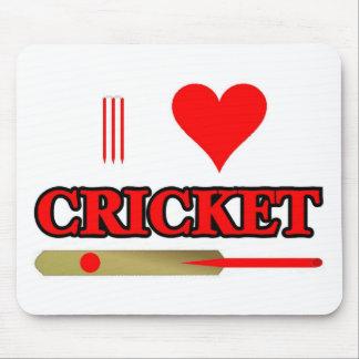 I Love Cricket Mouse Pad