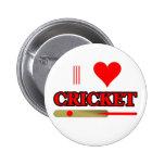 I Love Cricket Pinback Button