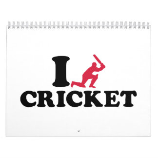 I love Cricket player Calendar