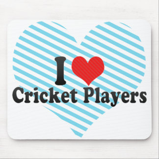 I Love Cricket Players Mouse Pad