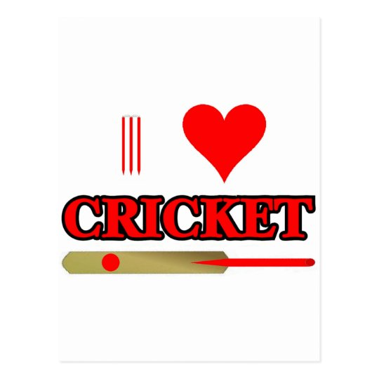 I Love Cricket Postcard