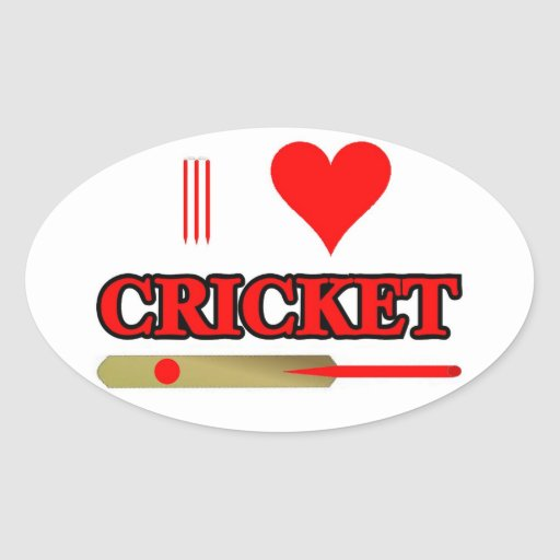 I Love Cricket Sticker