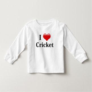 I Love Cricket Toddler T-shirt