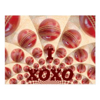 I Love Cricket XOXO Customize Product Postcard