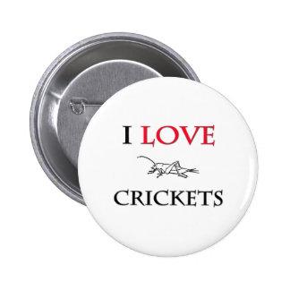 I Love Crickets Pinback Button