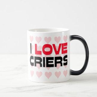 I LOVE CRIERS COFFEE MUGS