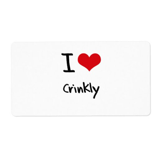 I love Crinkly Shipping Label