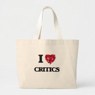I love Critics Jumbo Tote Bag