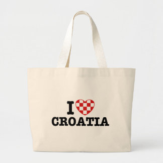 I Love Croatia Tote Bags