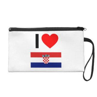 i love croatia wristlet purses